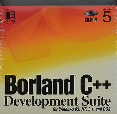Borland C++ Development Suite Version 5 Windows 95, NT, 3.1 & DOS FREE SHIPPING