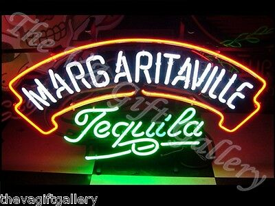 Margaritaville Tequila Neon Sign Bar Man Cave Restaurant Retail Beer Music 20x11