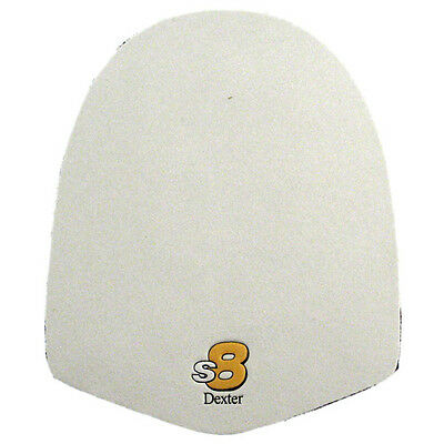 NEW TWO DEXTER S8 SST REPLACEMENT SLIDE SOLES WHITE MICROFIBER - 2 Pack !!