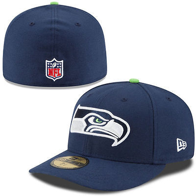 b4205cfa9f5fd Seattle Seahawks Nfl Authentic On Field Players New Era 5950 Fitted Hat cap  Nwt