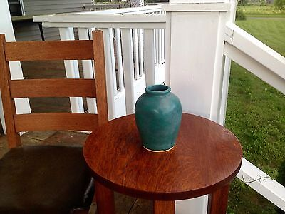 Reproduction Hampshire Art Pottery Moss Green Vase Vermont Made Free Shipping