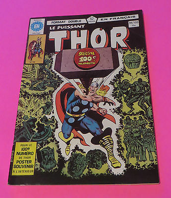 1980 Le Puissant Thor  #99&100 Double Issue Héritage French Edition