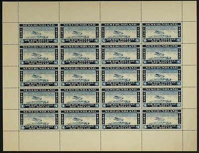 WAYZATA Newfoundland 1932 airmail complete pane of 20,M VF(L-MH)see description