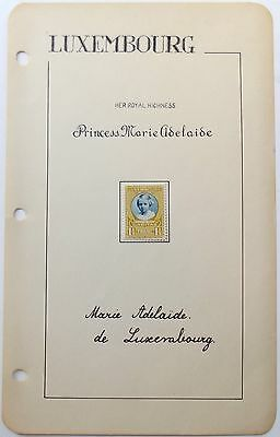 Princess Marie Adelaide Of Luxembourg Autograph Signed Album Page