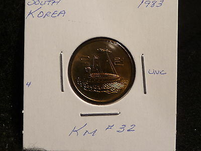 South Korea : 1983    5 Won   Coin  Gem   (Unc.)   (#3265)  Km # 32