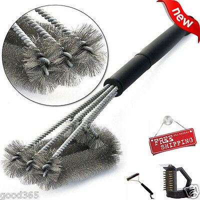 """BBQ Grill Brush 18"""" Stainless Steel Barbecue Cleaning Tool Woven Wire Brush New"""