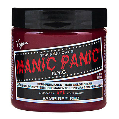 Manic Panic Classic Hair Dye Color Vampire Red  Vegan 118ml Manic-Panic