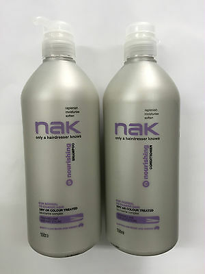 NAK NOURISHING Shampoo and conditioner  1 LITRE Duo with Pumps (1000ml)
