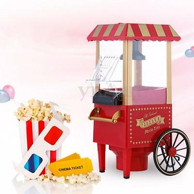 220V  Useful Vintage Retro Electric Popcorn Popper Machine Home Party Carnival