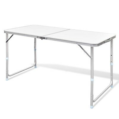 New Outdoor Camping Table 120x60cm Folding Picnic Aluminium MDF Garden BBQ Party