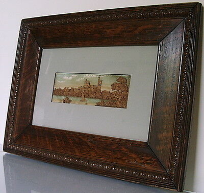 Rare German c.1900 carved & painted diorama of POTSDAM-BABELSBERG CASTLE