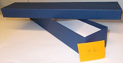 Loco/Locomotive Storage Boxes - Large (Blue) with Lids x 6. New.