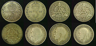 King George V Silver 3d threepence 1911 - 1936. Choose your coin