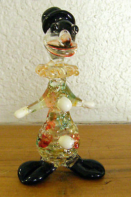 Vintage Handcrafted Glass Clown 4 Inch Tall Miniature Intricate Must See