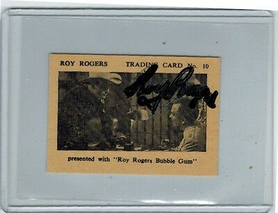 1955 Times Confectionery Roy Rogers Trading Card #10 Signed In Person Auto