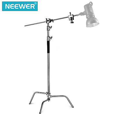 Neewer 10ft/305cm Adjustable Reflector Stand w/ 4ft Holding Arm & 2pcs Grip Head