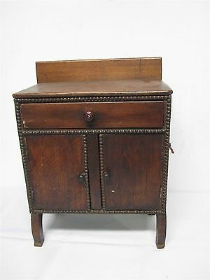 "VINTAGE SALESMAN SAMPLE of WOOD SIDEBOARD CABINET 18 1/4"" HIGH"