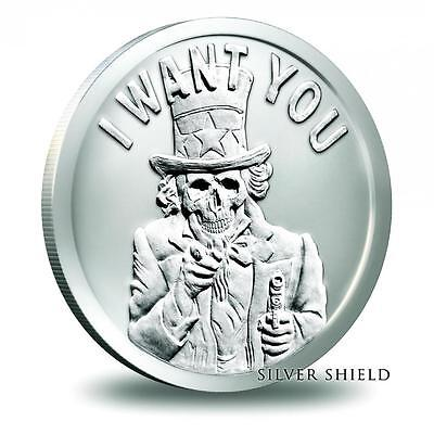 1 Oz  2014 Silver Shield *Slave Uncle* Bu Silver Round  .999 *W/Airtite*