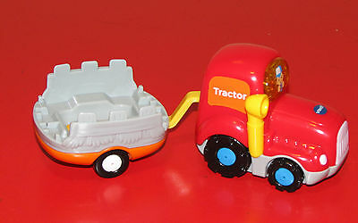 VTECH GO! GO! SMART WHEELS Tractor & Gray Trailer VEHICLE Replacement PART NEW