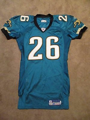2003 Blue Adams Game Issued Worn Jacksonville Jaguars Football Jersey UC WVU
