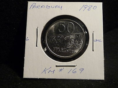 Paraguay : 1980      50  Guaranies   Coin    (Unc.)   (#3769)  Km  # 169