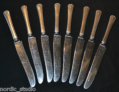 """DEAUVILLE"" 1929 COMMUNITY set of 8 DINNER KNIVES"