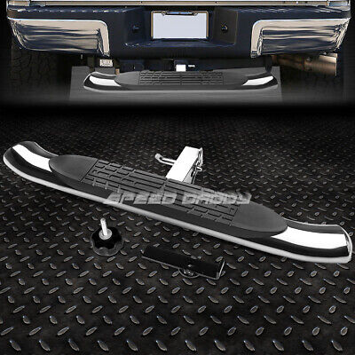 """37"""" x 4""""OVAL 2""""RECEIVER CHROME TRAILER TOWING TAILGATE/HITCH REAR STEP BAR/PEDAL"""