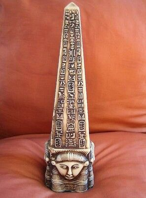 Large Antique Amazing Hand Carved of Ancient Egyptian Obelisk Statue Collectible