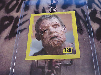 2014 The Walking Dead Trading Sticker From Argentina A Walker Zombie #120 Free*