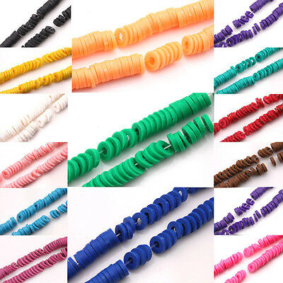 150X Disc Fimo Polymer Clay Rondelle Spacer Bead Wafer Charm DIY Jewelry Finding