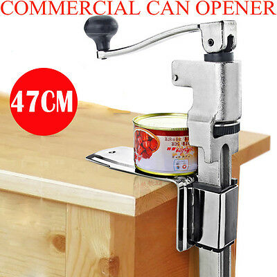 New Heavy Duty Large Commercial Can Opener Counter Bench Top Cast Steel Table