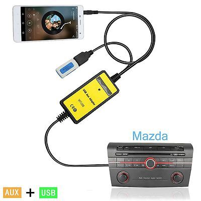 Car USB Aux-in Adapter Audio Cable Radio Input Interface For Miata RX8