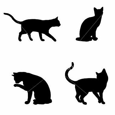 Cross Stitch Chart - Cats Silhouette
