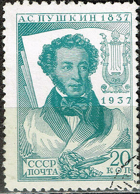 Russia Famous Writer and Poet Aleksander Pushkin stamp 1937