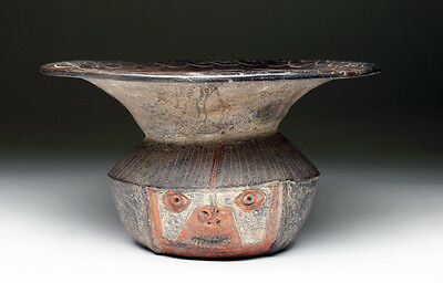 ARTEMIS GALLERY Important/Exhibited Chavin Polychrome Rimmed Olla