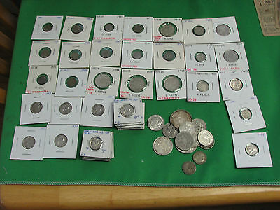 lot of 60 worlds coins silver Sweden New Zealand Great Britain  Greece France