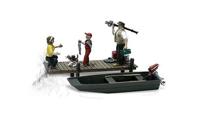 Woodland Scenics A2756 O Train Figures Family Fishing