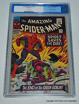 Amazing Spider-man 40 Marvel Comics CGC 4.5 Origin Green Goblin!
