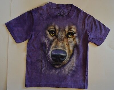 The Mountain WOLF FACE T-Shirt Youth Boy Girl Child Sizes New