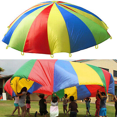 Kids Play Rainbow Parachute Outdoor Game Family Exercise Sport Toy 3M