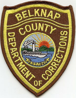 BELKNAP COUNTY NEW HAMPSHIRE NH DOC CORRECTIONS sheriff police PATCH
