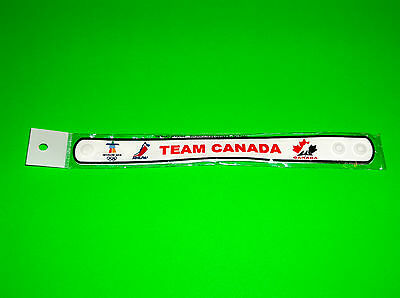 Canada Olympic Hockey Team White Wristband