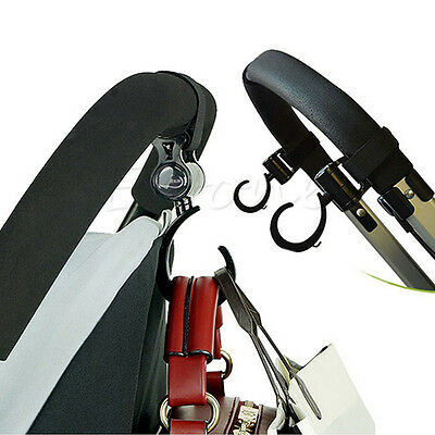 1 Pair Multi Function Baby Prams Strollers Swivel Strap Clothes Hooks New