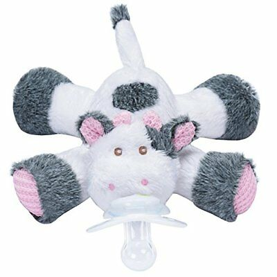 Nookums Paci-Plushies Cow - Universal Pacifier Holder New