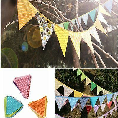 Fabric Flags Bunting Pennant Baby Wedding Birthday Party Home Decoration YG
