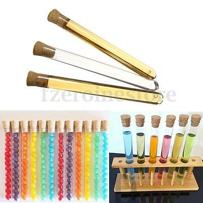 50x 20ML Plastic Test Tubes 150 x 16mm Shots Corks Candy Wedding Favours +Cap