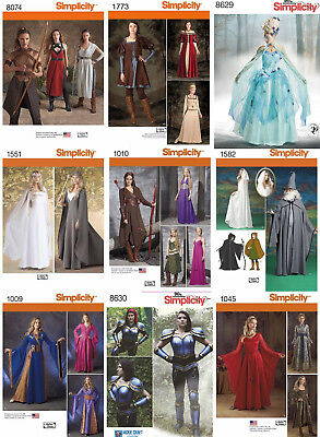 Simplicity Sewing Pattern Costume Renaissance Fest Gown Dress Elves Wizard