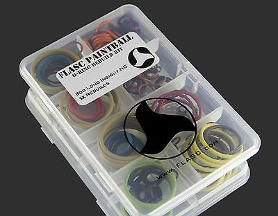 Bob Long Insight NG 5x color coded o-ring rebuild kit by Flasc Paintball