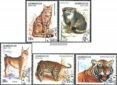 Aserbaidschan 178-182 (complete issue) used 1994 Cats