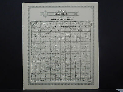 Illinois Lee County Map 1921 Reynolds or Viola Township Double Side L15#91